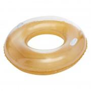 Merkloos Grote gouden opblaasbare zwemband / zwemring 105 cm speelgoed