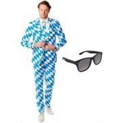Heren kostuum / pak met Beierse print maat 50 (L) - met gratis zonnebril