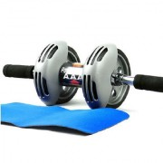 Unique Cartz AB WHEEL AB ROLLER ABDOMNAL WORKOUT ROLLER FOR AB EXERCISE FREE KNEE MAT