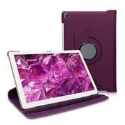 kwmobile Funda Compatible con Huawei MediaPad M5 Lite 10 Carcasa de Cuero sintético para Tablet en Violeta