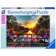 Ravensburger puzzle biciclete in amsterdam, 1000 piese