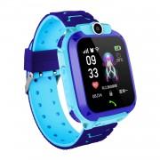 Q12 IP67 Waterproof Smart Watch Multifunction Children Digital Wristwatch Watch Phone for iOS Android - Blue