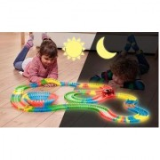 Magic tracks glowing tracks set of tracks 62 feet 5 cars train sets 5 cars magic kids toys battery operated car