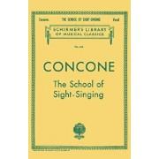 School of Sight-Singing: Schirmer Library of Classics Volume 245 Voice Technique, Paperback/Joseph Concone