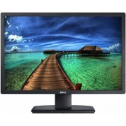 "Monitor IPS LED Dell 24"" U2412M, Full HD (1920 x 1200), VGA, DVI-D, DisplayPort, 8ms, Pivot (Negru) + Viziera de protectie din PET 100% (Transparent) + Cartela SIM Orange PrePay, 6 euro credit, 6 GB internet 4G, 2,000 minute nationale si internationale fi"