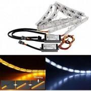 Set DRL lumini de zi Premium banda LED cu semnalizare dinamica pentru faruri 50cm