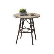 DCB Garden Table ronde DCB GARDEN USHUAIA diamètre 70cm avec plateau en verre - LIN