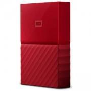 Външен диск HDD 4TB USB 3.0 MyPassport, Червен, NEW, WDBYFT0040BRD