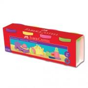 Plastilina 4 culori/set,culori pastel, 4x130g, FABER CASTELL