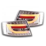 FK-Automotive fari posteriori LED Audi A6 berlina (4F) anno di costr. 04-08 cromato