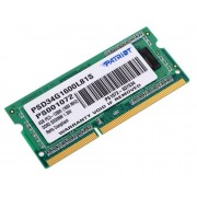 Модуль памяти Patriot Memory DDR3 SO-DIMM 1600Mhz PC3-12800 CL11 - 4Gb PSD34G1600L81S