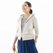 ANELA LUX 着やせ美ラインの女前パーカー【QVC】40代・50代レディースファッション