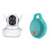 Zemini Wifi CCTV Camera and Clip Bluetooth Speaker for SAMSUNG GALAXY S 5 SPORT(Wifi CCTV Camera with night vision |Clip Bluetooth Speaker)