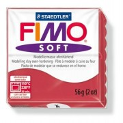 Gyurma, 56 g, égethető, FIMO Soft, meggy piros (FM802026)