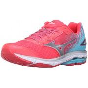 Mizuno Women's Wave Rider 19 Running Shoe, Diva Pink/Capri/Silver, 6. 5 B US