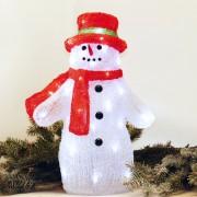 Karácsonyi figura, hóember figura IP44, kültérre is! 36x23x40 cm, 48 db hideg fehér leddel. Life Light Led 2 év garancia!