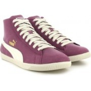 Puma Glyde Mid Basic Sports Mid Ankle Sneakers For Women(Purple)