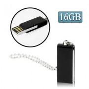 Mini Rotatable USB Flash Disk (16GB) Black