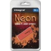 USB Flash Drive Integral Neon 16 GB USB 2.0 Orange