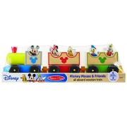 Disney Baby Mickey Mouse and Friends Wooden All Aboard Train