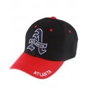 Blue Atlanta - Svart och Röd Keps med Kardborreband