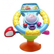 Mallya Steering Wheel Learn to Drive Simulated Toy Driving Machine for Kids
