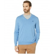 Polo Ralph Lauren Cotton V-Neck Sweater Soft Royal Heather