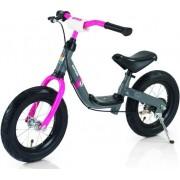 """Bicicleta Kettler Run Air Girl, fara pedale, Roti 12.5"""" (Gri/Roz)"""