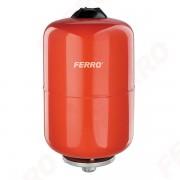 Vas de expansiune Ferro, 12L pentru apa calda, incalzire centrala cu montaj suspendat