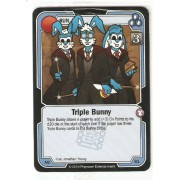 Killer Bunnies Promo Card: Odyssey Promo Cards: Triple Bunny Blue #Ab61