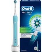 Periuta de dinti electrica Oral-B PRO 500 Cross Action 20000 pulsatiimin 8800 oscilatiimin Curatare 3D Alb-Albastru