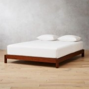 Simple Acacia Wood Bed Base Queen by CB2