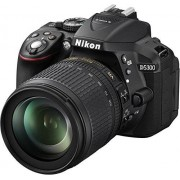 Nikon D5300 SLR Digitale camera (24,2 megapixels, 8,1 cm (3,2 inch) LCD-display, Full HD, HDMI, WiFi, GPS, AF-systeem met 39 meetvelden), alleen behuizing, zwart