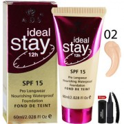 ADS ideal Stay Foundation SPF15 12Hr A1683-02 With Free Adbeni Kajal