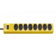 hugo! Prolongateur multiprises 8 prises jaune 2m H05VV-F 3G1,5