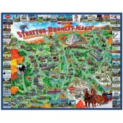 White Mountain Puzzles Manchester and Mountains Vermont - 1000 Piece Jigsaw Puzzle