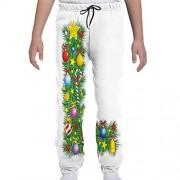 GULTMEE Pantalones de chándal para jóvenes, árboles de Pino en el Bosque sobre Fondo de Aventura de Aventura de Naturaleza, S-XL, de colores2, X-Large