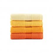 Hobby Sada 4 ručníků z bavlny Rainbow Daisy, 50 x 90 cm