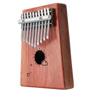 10 Keys Kalimba African Solid Mahogany Wood Thumb Piano Finger Percussion for Gifts