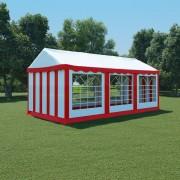vidaXL Tenda de jardim PVC 3x6 m vermelho e branco