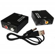 Coaxial óptico Toslink Audio De Digital A Analógico Convertidor Adaptador RCA L / R