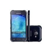 Smartphone Samsung Galaxy J1 Ace Duos Dual Chip Desbloqueado Android 4.4 Tela 4.3 4GB 3G Câmera 5MP - Preto