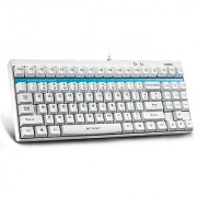 Turpro Rapoo V500 Full Keys Programmable 87 Keys Built-in Onboard Memory Blue Switches Mechanical Gaming Keyboard