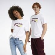 Reebok Classics Split Vector T-shirt - White - Size: Extra Small