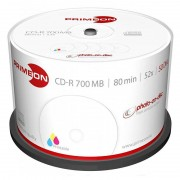 Primeon CD-R 700 MB, 52x, photo-on-disc, Inkjet Full Size Printable, 50-Box