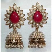 Aashiqui 2 Maroon polki pearls Jhumka Earring