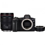 Canon Aparat CANON EOS R Body + RF 24-105mm F4L IS + Adapter EF-EOS R Czarny