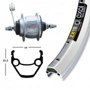 Bike-Parts Bike parts 28″ rear Exal ZX 19 + hub gears Shimano 8-speed (RB)