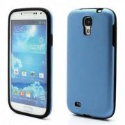 Твърд гръб в съчетание на силикон и алуминий за Samsung Galaxy S4 IV i9500 i9502 i9505 - тъмно синьо