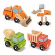 Vehicule utilitare pentru constructii din lemn Melissa and Doug